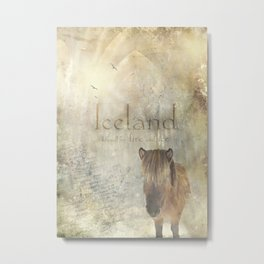 Iceland, forged by fire and ice Metal Print