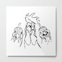 three comrades Metal Print