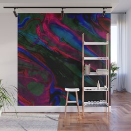 Dark Neon Marble Design Wall Mural