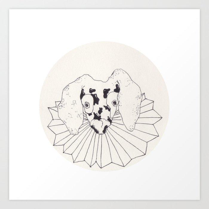 Spot Dog Art Print