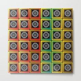 Floral tessellation Metal Print