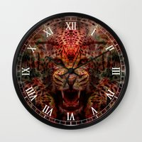 jaguar Wall Clocks featuring Jaguar by Zandonai