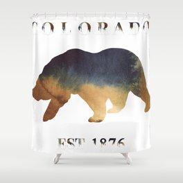 Watercolor Bear Colorado Established 1876 Shower Curtain