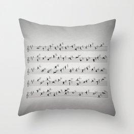 Dance Music Throw Pillow