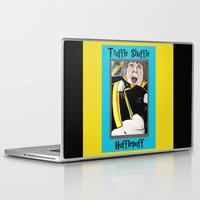hufflepuff Laptop & iPad Skins featuring Truffle Shuffle Hufflepuff by Portraits on the Periphery