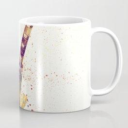 Electric Guitar Abstract Watercolor Coffee Mug