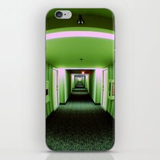 Green corridor iPhone & iPod Skin
