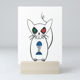 crazy kitty Mini Art Print
