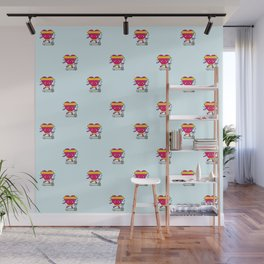 My heart goes faster for you pattern Wall Mural