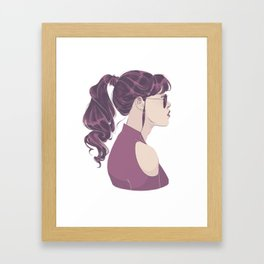 Purple Ponytail Framed Art Print