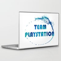 playstation Laptop & iPad Skins featuring Team Playstation by Bradley Bailey