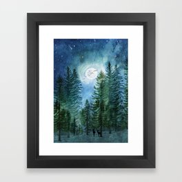 Silent Forest Framed Art Print