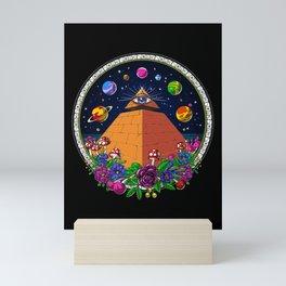 Psychedelic Magic Mushrooms All Seeing Eye Mini Art Print