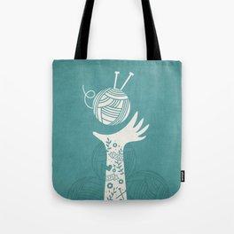 Yarn Love - Teal  Tote Bag