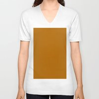 ginger V-neck T-shirts featuring Ginger by List of colors