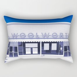 F.W. Woolworth All White Rectangular Pillow