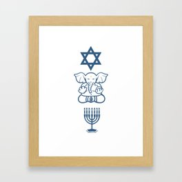 Jew Gift Judaism Israel Religion Rabbi Framed Art Print