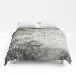 Pockets of Salt on the Rocks by the Sea Comforters