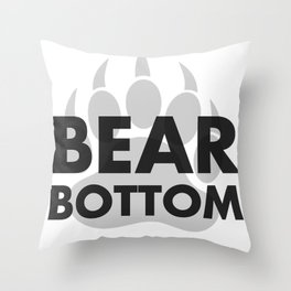 BEAR BOTTOM Throw Pillow