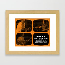TIME OUT, MARIA MARIA (4, ORANGE) - AUSTIN, TX Framed Art Print