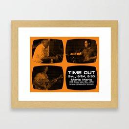 TIME OUT, MARIA MARIA (4, ORANGE) - AUSTIN, TX Framed Art Print