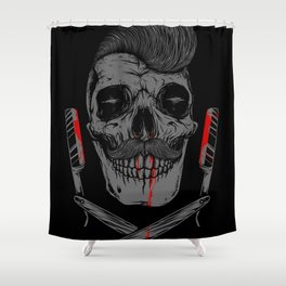 Pomade Style Shower Curtain