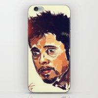 brad pitt iPhone & iPod Skins featuring Mr Pitt  by ConnorEden