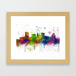 Baltimore Skyline Framed Art Print