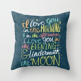 I LOVE YOU IN THE MORNING (color) Throw Pillow