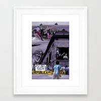 argentina Framed Art Prints featuring Argentina by Noush