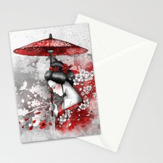 Falling blossoms Stationery Cards