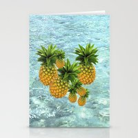 pineapples Stationery Cards featuring Pineapples by Erika Kaisersot