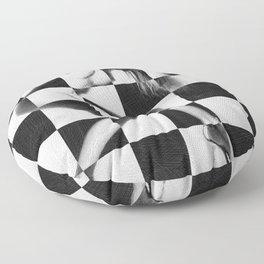 Survive Nude Woman Checkered 4 Floor Pillow
