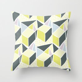 3D Triangles Throw Pillow