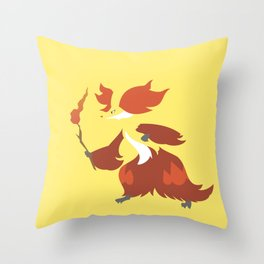 Delphox Throw Pillow