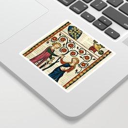 Codex Manesse: Bernger von Horheim Sticker