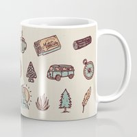 camping Mugs featuring Lets Go Camping by WEAREYAWN