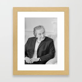 Golda Meir - Israeli Prime Minister Framed Art Print