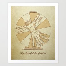 True Story of Perfect Proportions Art Print