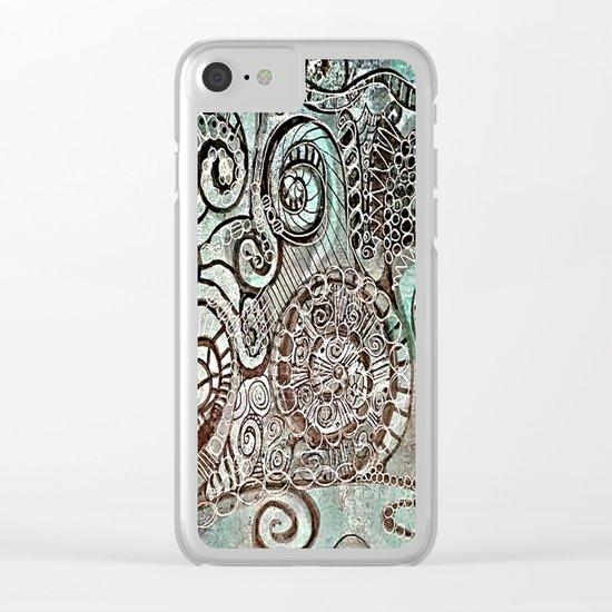 Journal Swirl Clear iPhone Case