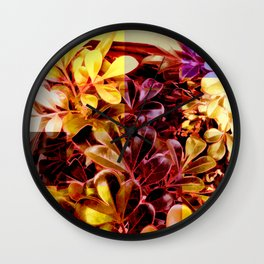 Foliage Patchwork #11 Wall Clock