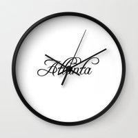 atlanta Wall Clocks featuring Atlanta by Blocks & Boroughs