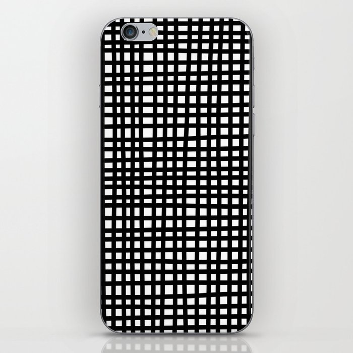 Black and White Gingham iPhone Skin