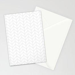Herringbone Black and White Stationery Cards