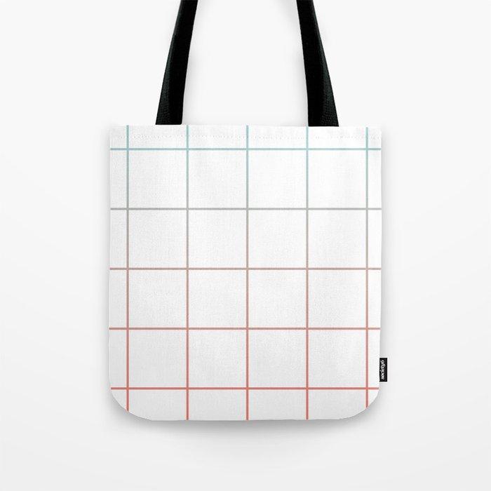 4030b1d62b Large Checks Peach Echo   Limpet Shell Gradient Pattern Tote Bag by ...
