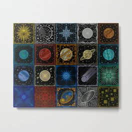 Astronomical Alchemy 20 Tile Collage Metal Print