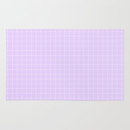 Light Lavender with White Grid Rug