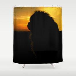 Lion dog sunset Shower Curtain