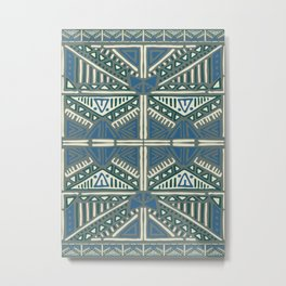 Ethnic Tribal Illustration Metal Print