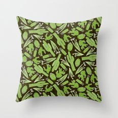 Sketchy Cacti Throw Pillow